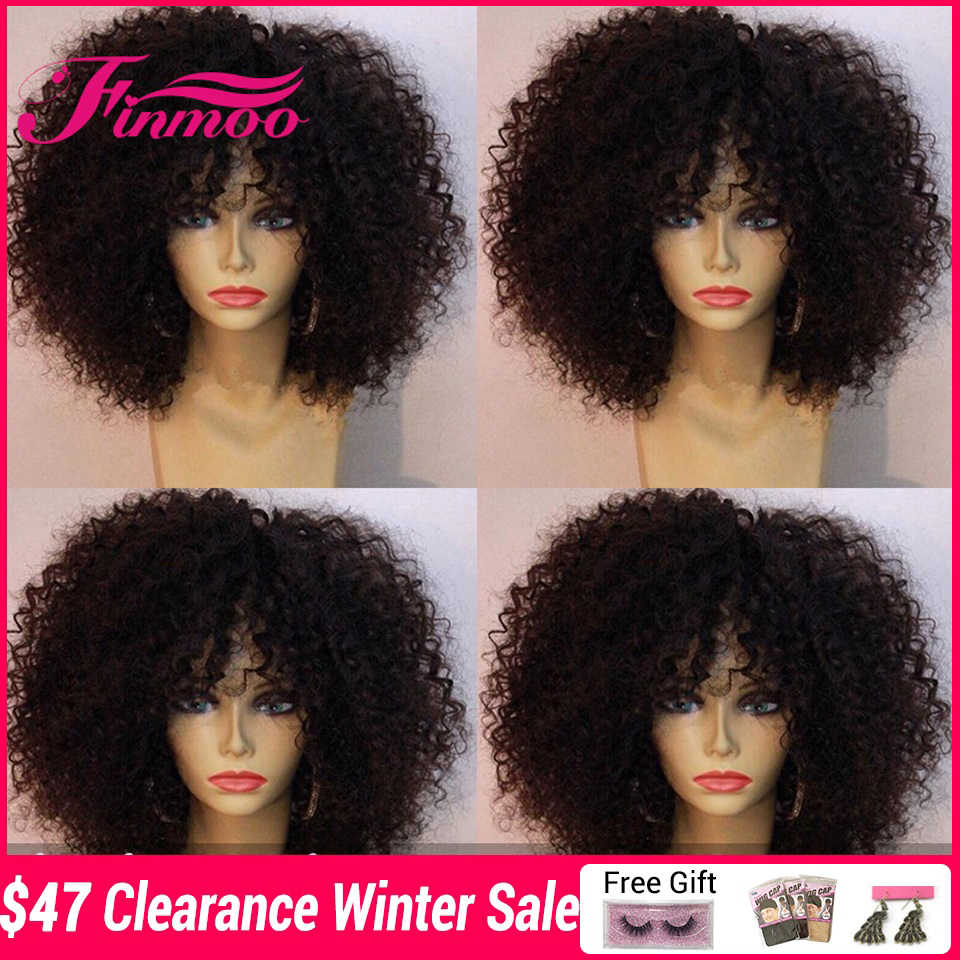 Afro Kinky Curly Wig 13X6 Lace Front Human Hair Wigs For Black Women Pre Plucked Hairline Peruvian Remy Lace Wigs Deep Parting