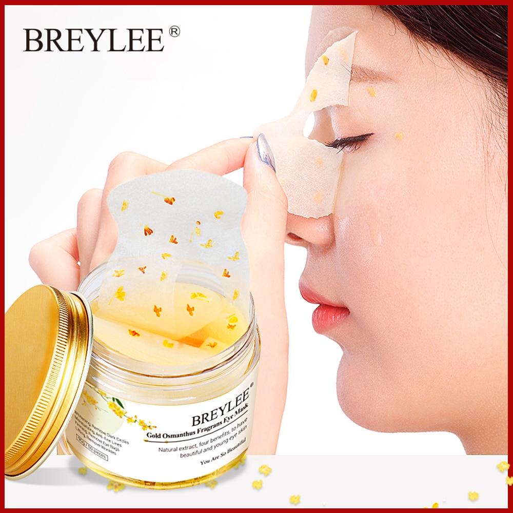 BREYLEE Eye Mask Patch Remove Dark Circles Eyes Bags Anti Aging Whitening Moisturizer Serum Cream Face Skin Care Sheet Mask 50pc