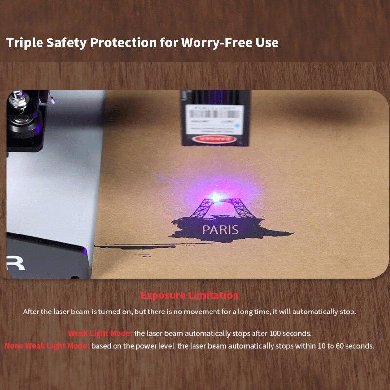 Ortur Laser MASTER 20W Machine de gravure 32 bits bricolage Laser graveur métal découpe 3D imprimante pour fenêtres avec Protection de sécurité - 4