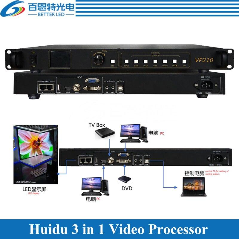 Processeur vidéo + carte denvoi + USB jouant Huidu 3 en 1 processeur vidéo