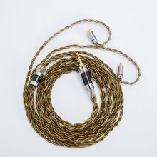 Factory direct sales  4 Core Copper Plated Gold Mixed Upgrade Line HiFi Headphone Wire MMCX/0.78mm 2Pin/QDC/TFZ For SE535 UE900S