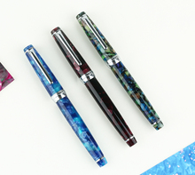 MOONMAN DELIKE Fountain Pen Newmoon Series Acrylic Resin Iridium EF/F/Small Bent Writing Pen Gift Set for Business Office hongdian white fountain pen iridium silver ef f bent nib beautiful tree texture excellent writing gift pen for business office