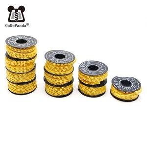 Darmowa wysyłka 10 rolek/partia 1.5/2.5/4/6/10mm przewód kwadratowy znacznik kablowy rękaw kablowy termokurczliwy pcv numer 0-9