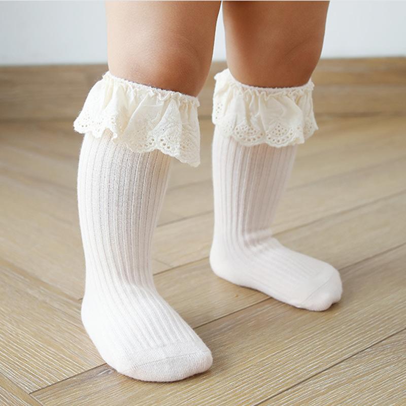 Baby socks New Kids Toddlers Girls  Knee High Long Soft Cotton Lace Baby Children Socks Baby Girl socks 0 to 3 years 4