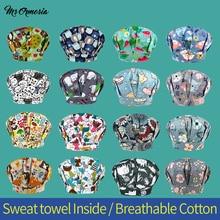 Scrub Floral-Printing Working-Caps Fluffy-Hats Laboratory Fashion Multicolor Cotton Pet-Shop