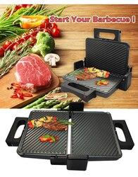 2000W Grill elektryczny 750W podróży urządzenie do grillowania Grill elektryczny płyta grzejna bezdymny grillowany mięso Pan