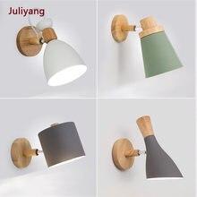 Настенный светильник в скандинавском стиле из массива дерева