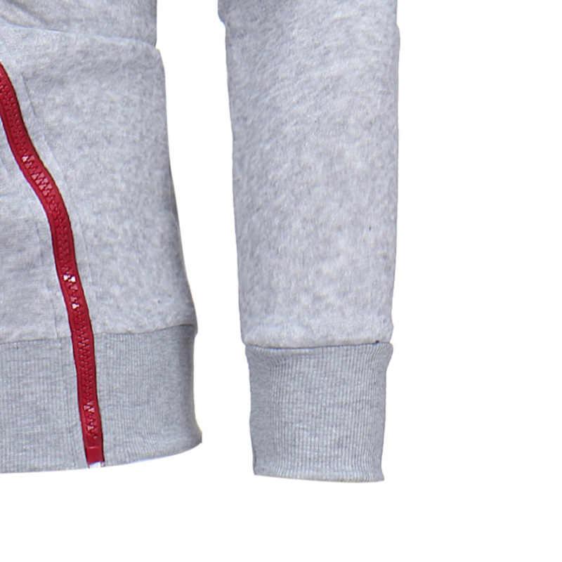 MJARTORIA 2020 di Modo di Autunno Casual Solido Felpa Con Cappuccio Da Uomo/donne Polluver Felpa Con Cappuccio Felpe Pullover Della Chiusura Lampo Camicetta Più Il Formato