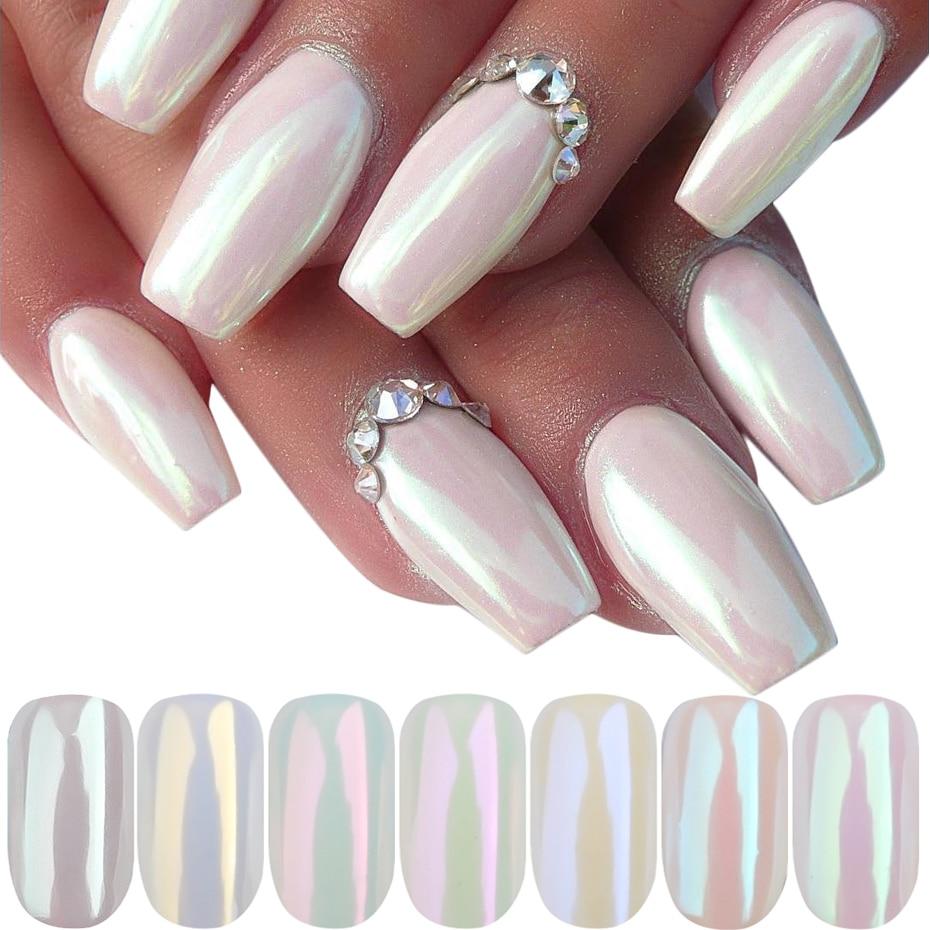 Pearl Powder Nail Art Glitter Mirror Mermaid Effect Chrome Pigment UV Gel Polish Shimmer Dip Dust DIY Nails Decor