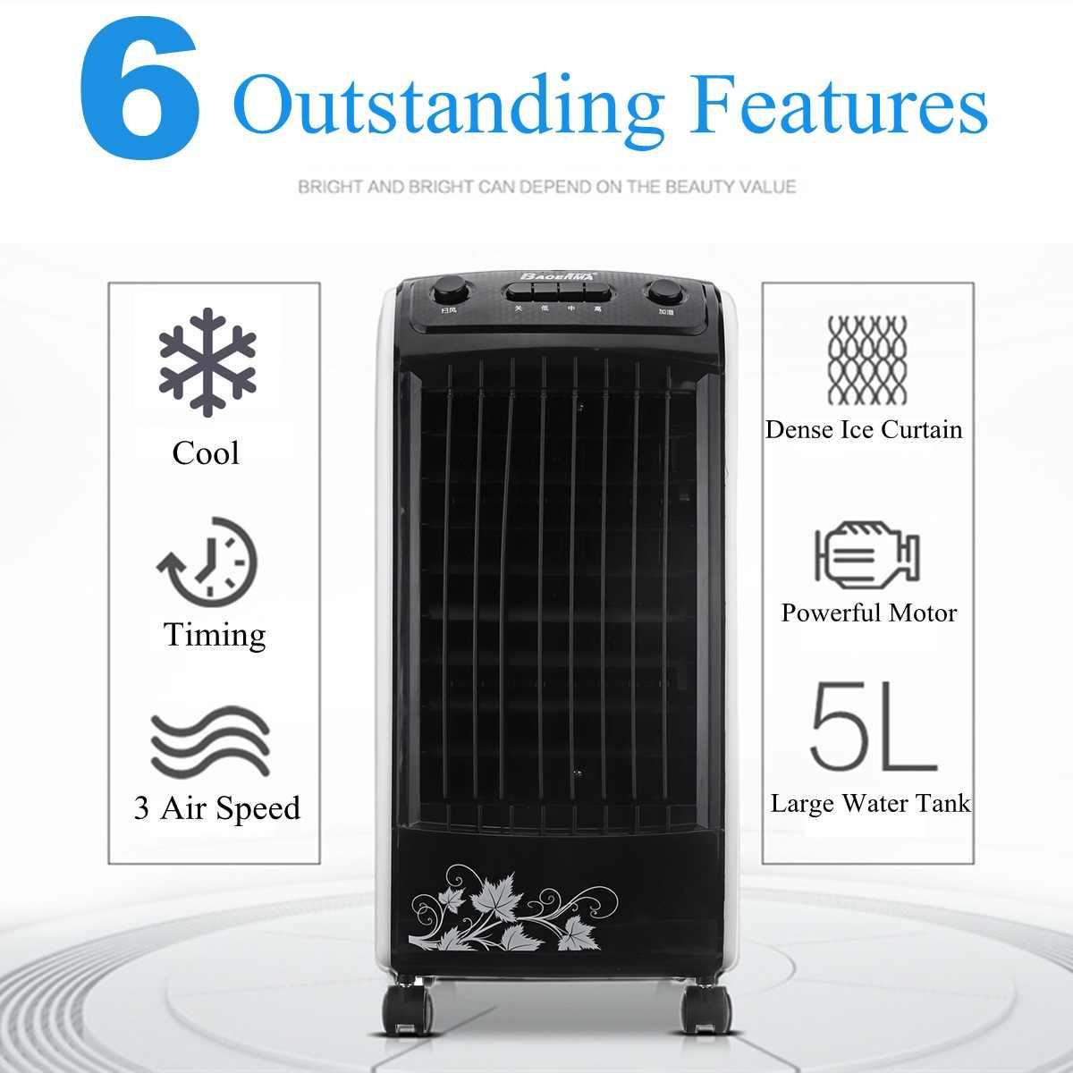 Warmtoo climatiseur ventilateur humidificateur Portable maison électrique refroidisseur ventilateur climatisation 5 glace cristal