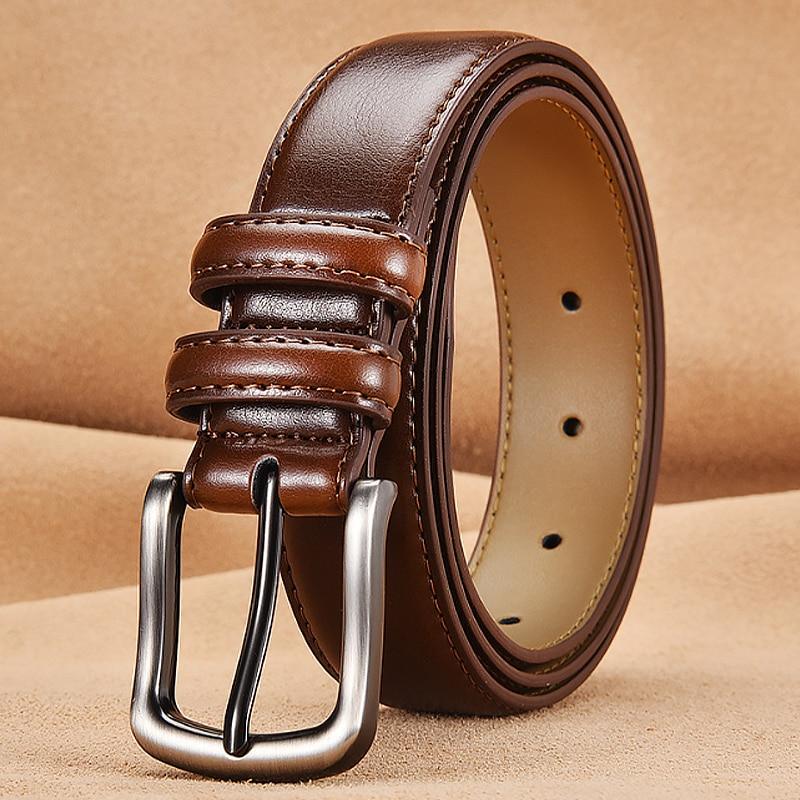Fashionable Belt Man Real Leather Belts For Men Genuine Leather Belt Men Blue Mens Belts Casual/luxury Ceinture Homme     NSDS01