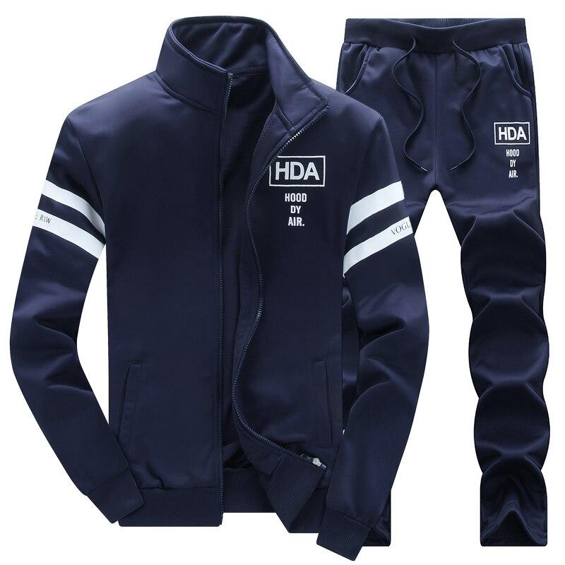 New Winter Tracksuits Men Set Thicken Hoodies + Pants Suit Spring Sweatshirt Sportswear Set Male Hoodie Sporting Suits