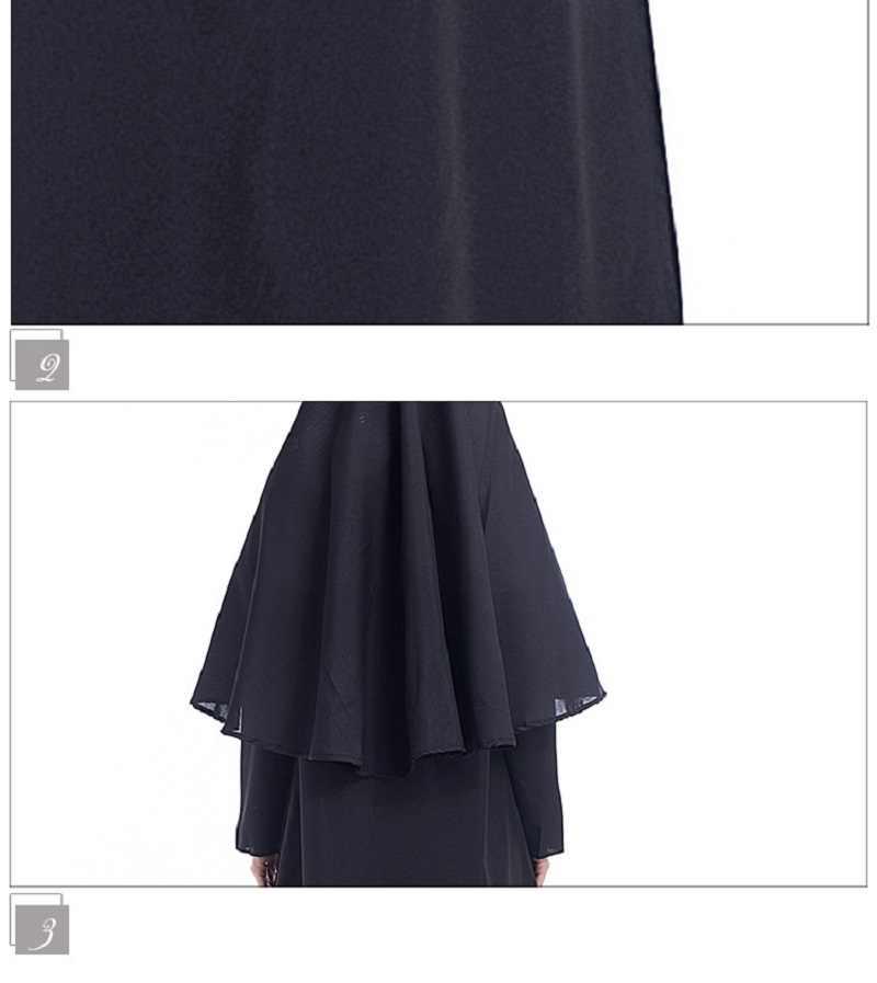 Yetişkin dini meryem hıristiyan misyoner rahibe Cosplay kostüm geleneksel katolik rahibe kardeş rahibe süslü elbise kıyafetler