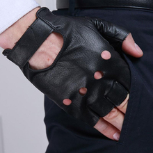 1 Pair Motorcycle Fingerless Gloves Faux Leather Gloves Fitness Fingerless Gloves Half Finger Gloves Bike Driving Gloves cheap aiboduo Polyester Nylon