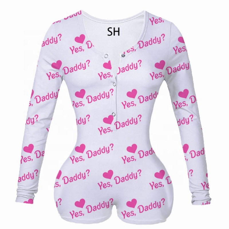 Sexy Women Bodysuit V-neck Bodycon Sleepwear Jumpsuit Stretch Short Romper Pajamas Women Leotard Long Sleeve Bodysuit Overalls