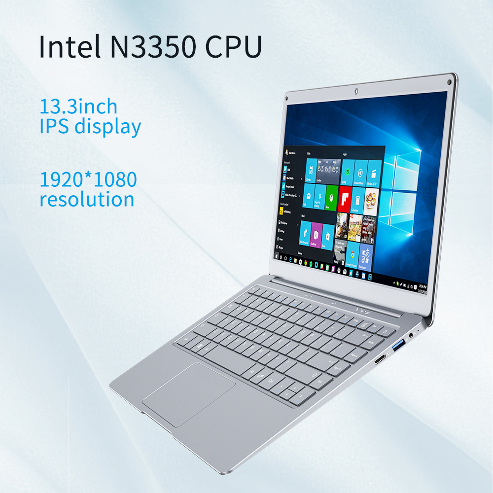 NEW Jumper EZbook X3 4GB 64GB Win10 Notebook 13.3 inch 1920*1080 IPS Screen Intel N3350 laptop 2.4G/5G WiFi With Office 365-1