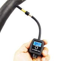 Novo ciclismo de alta precisão digital pneu manômetro barómetros tester portátil medidor pressão dos pneus da bicicleta