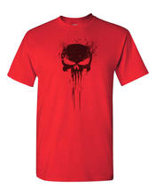 The Punisher New Skull on Bernthal Frank Castle T-Shirt-Red(China)