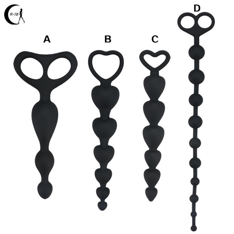Anillo de silicona con forma de corazón para hombre y mujer, Juguetes sexuales para adultos, masajeador de próstata, tapón Anal, superlargo, Gay