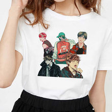 Drawing Not Today T Shirt Women JIN SUGA J HOPE JIMIN V JUNGKOOK Korean Style Bangtan Boys Cartoon Image Tshirt Female T-shirt(China)