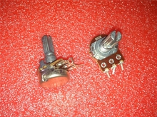 2pcs/lot WH148 15mm Shaft Amplifier Dual Stereo Potentiometer B1K B2K B5K B10K B20K B50K B100K B500K 3Pin 1K 2K 5K 10K 50K 100K bp 161 horizontal single joint potentiometer b50k handle length 15mm