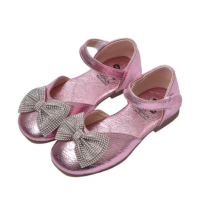 Spring Summer New Baby girls shoes Children princess shoes Kids Performance shoes For cocktail party dance chaussure fille Pink