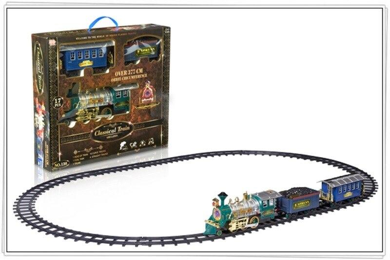 Модель электрическая дымовая камера трек классическая модель игрушки высокоскоростная железная дорога маленький поезд винтажный