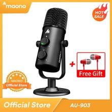 MAONO AU-903 bilgisayar mikrofon Podcast USB kondenser mikrofon Podcast USB kondenser mikrofon YouTube kayıt Podcast oyun Skype