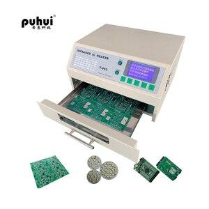 Image 3 - Puhui T962 800W 리플 로우 장비 T962 적외선 리플 로우 오븐 퍼니스 IC 히터 BGA SMD SMT 재 작업 스테이션