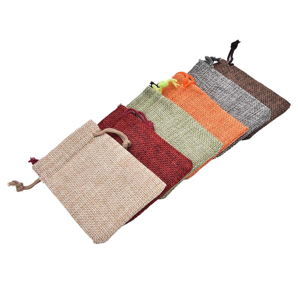 10pcs Mini Burlap Jute Drawstring Bags Jewelry Pouches Bags Christmas Rustic Bag 7x9cm 10 X 14cm