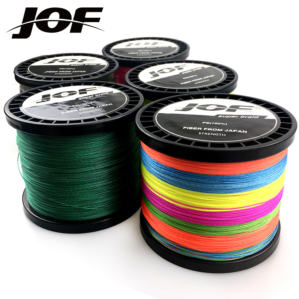 JOF 300m 500m 1000m Super Strong Japanese 8 Strands Multifilament PE Braided Fishing Line
