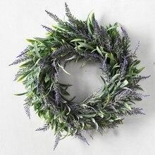 Подвеска в скандинавском стиле, Новогодняя гирлянда, Рождественский венок, искусственное растение для свадебного украшения, украшение двери