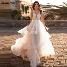 Шикарные Свадебные платья принцессы magic awn 2021 кружевные