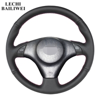 Hand stitched Black DIY Artificial leather Steering Wheel Cover for Toyota for Toyota  Lexus IS200 300 1999 2005 RAV4 2003 2005|Steering Covers| |  -