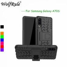 Para samsung galaxy a70s caso capa dupla camada armadura de silicone volta caso para samsung galaxy a70s suporte escudo SM-A707F 6.7