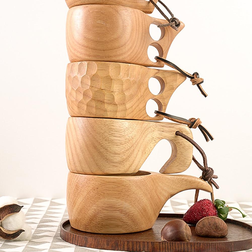 Новинка 2020, деревянная кофейная чашка, чайная чашка из натурального дерева Jujube с ручкой, дорожные чашки для молока, вина, пива для дома, бара, кухонные приспособления|Чашки и соусницы| | АлиЭкспресс