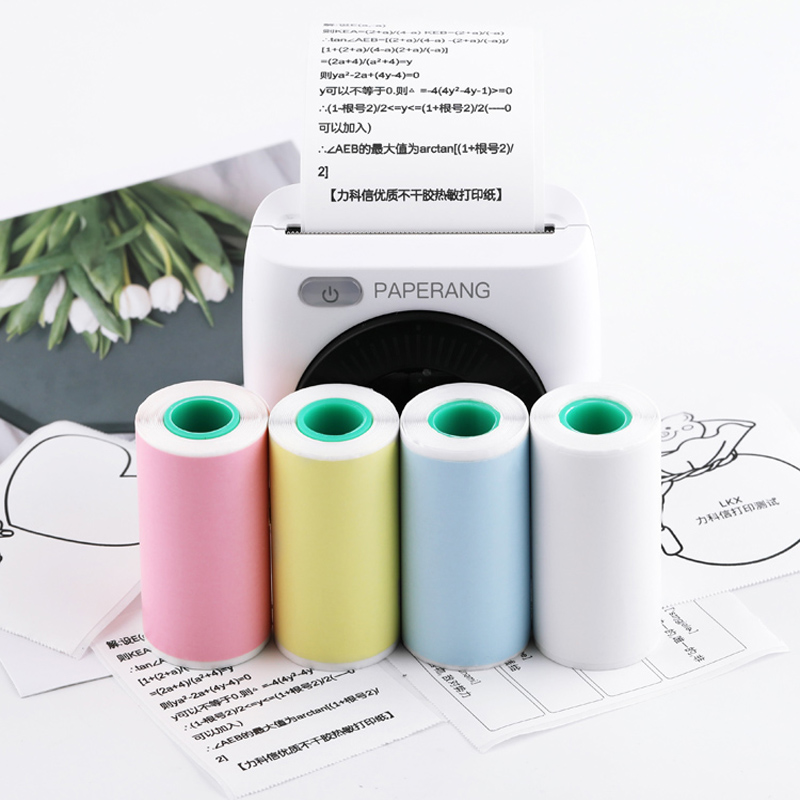 57x30mm Self-adhesive Thermal Printing Paper Thermal Label Printer For Pocket Mini Portable