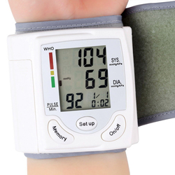 Blood Pressure Monitor with LCD Display Wrist Pulse Meter Automatic Digital Pulsometer Sphygmomanometer Family Diagnostic-tool