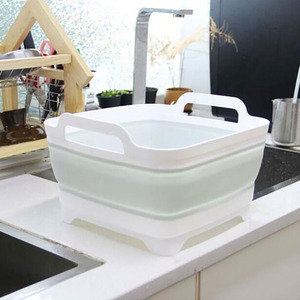 Image 4 - Portable Folding Bucket Foldable Basin Outdoor Travel Foldable Camping Washbasin Fruit Basin Bowl Sink Household Cleaning Tools