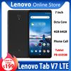 Global Firmware Lenovo tab V7 Phone Call Tablet 7 inch LTE version 4G 64G Octa core Face Recognition Dual Dolby Android Tablet