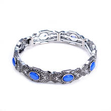 Aliespress Cheapest Women Bohemian Vintage Charm Stretch Bracelets & Bangles Adjustable Strand Boho Marcasite Bracelet Bijoux(China)