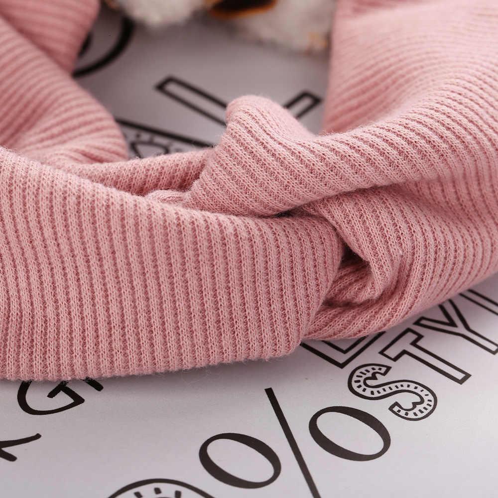 Moda Color sólido de algodón de las mujeres diadema turbante diadema para niña bebé trenzado elástico anudado banda de pelo accesorios para el pelo Tiara