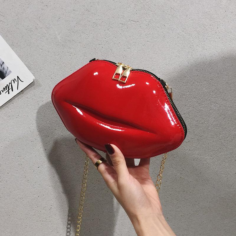 Mini Trendy All match Women's Bag New Luxury Designer Zipper Women's Shoulder Bag Lip Shape Clutch Fashion PVC Messenger Bag