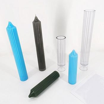 Nowe długie słupki formy świec plastikowe do odlewania świec formy do formowania Model ręcznie robiona świeca do odlewania świec formy świeca DIY do odlewania świec akcesoria do rękodzieła tanie i dobre opinie Candle Mold plastic Long Pole Candle Molds S 3 45*15 35cm L 3 5*25 6cm