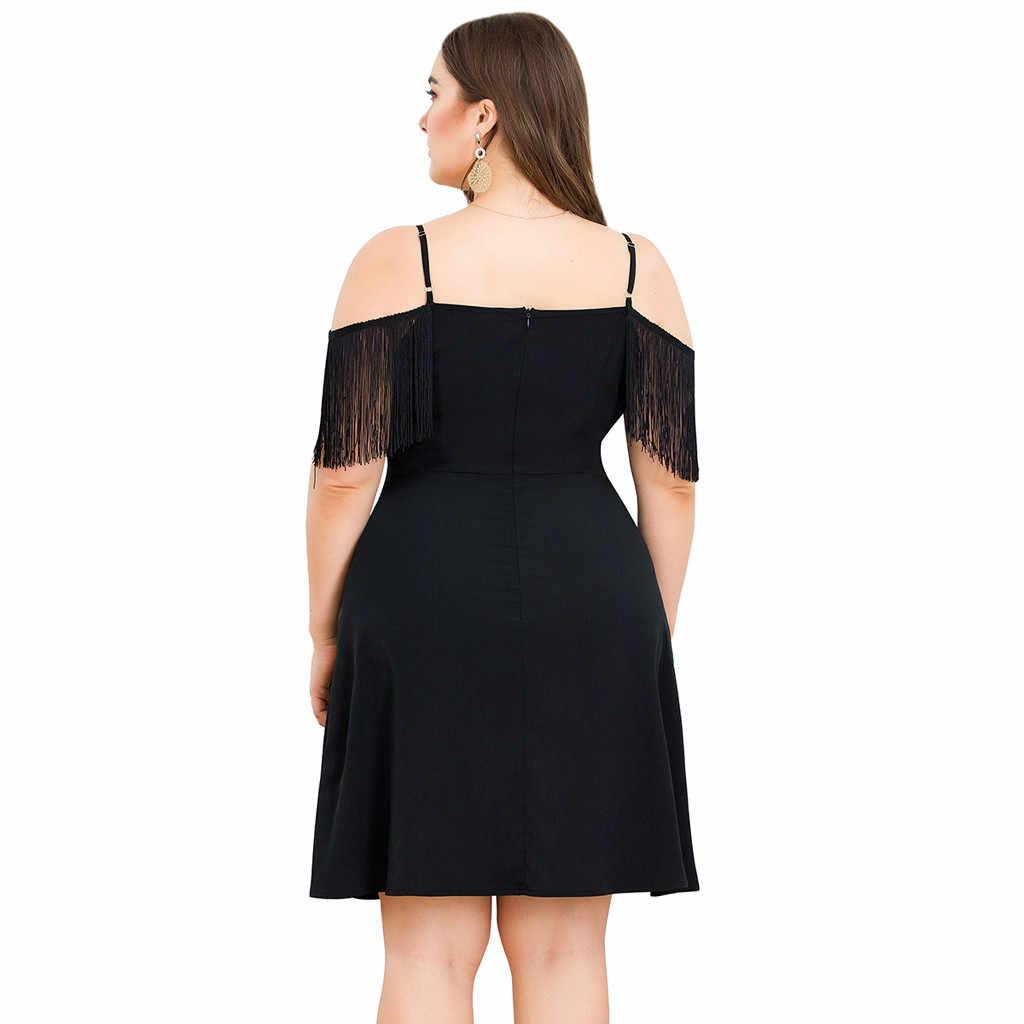 Vestido de mujer 2019 Verano Sexy Color sólido Vintage vestido de mujer ropa de mujer sin hombros ropa de mujer Vestidos de talla grande Verano GH50