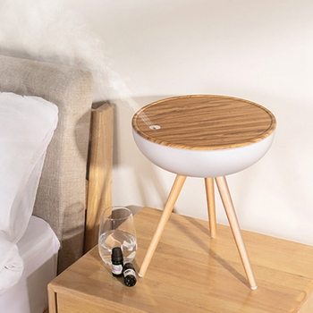 1L Air Humidifier Ultrasonic Essential Oil Diffuser Aromatherapy Fogger Large Capacity Wood Aroma Diffuser for Home US Plug