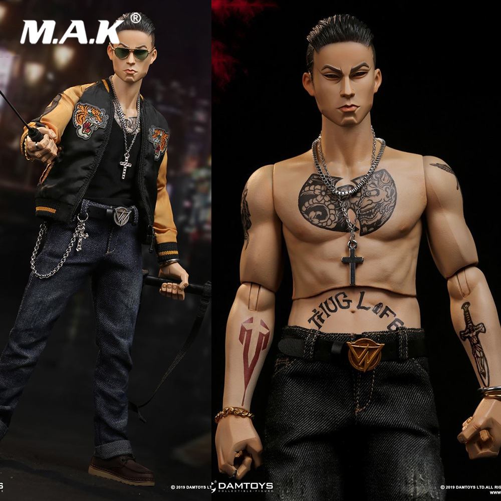 For Collection GK017 1/6 Scale Full Set Male <font><b>Gangsters</b></font> <font><b>Kingdom</b></font> Club 2 Van Ness Wu Jianhao Action Figure Model for Fans Gifts image