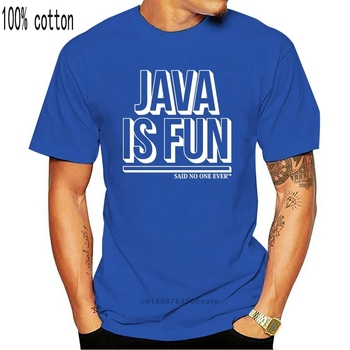 Java Is Fun Said Ever T-SHIRT Geek Programmer It Funny Birthday Gift 123t Summer Casual T Shirt Good Quality image