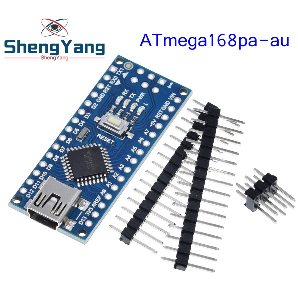 Контроллер Nano Atmega168, совместимый с arduino nano Atmega168PA-AU CH340 CH340C, заменяет USB-драйвер CH340G