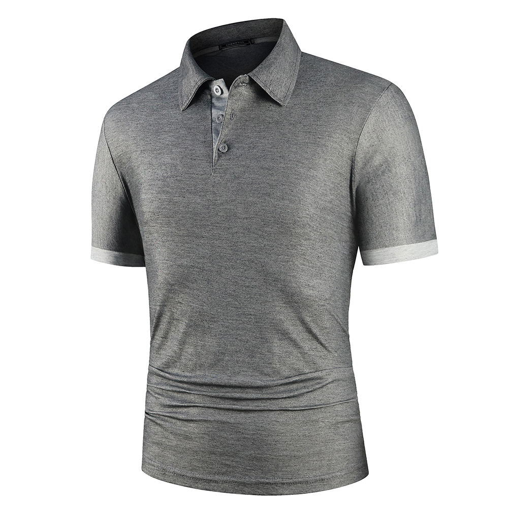 KB Men Polo Men Shirt Short Sleeve Polo Shirt Contrast Color Polo New Clothing Summer Streetwear Casual Fashion Men tops 6
